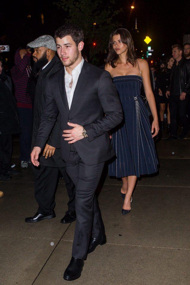 Ник Джонас и Джорджия Фаулер на вечеринке по случаю помолвки Джо Джонаса