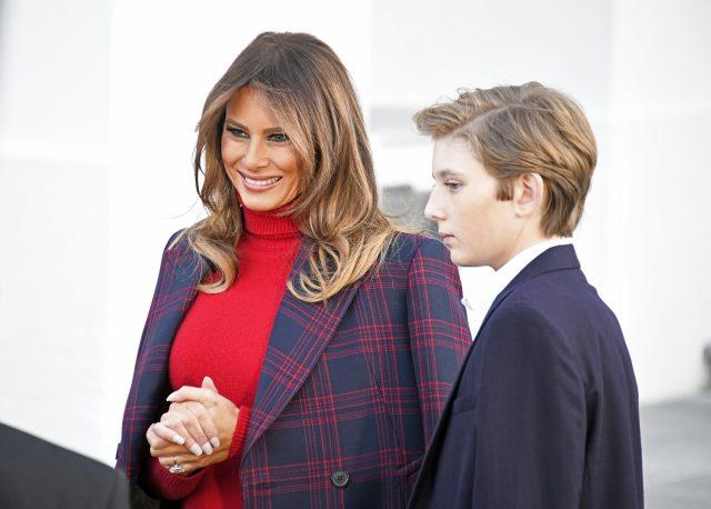 Мелания и Бэррон Трамп
