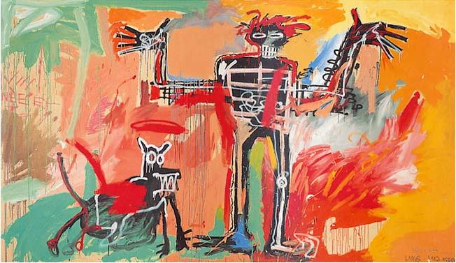 «Мальчик и собака на пожаре» (1982), Жан-Мишель Баския