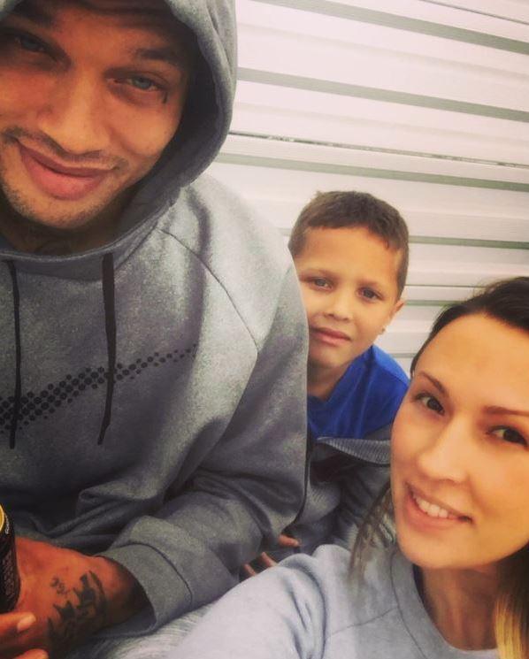 Джереми с бывшей женой Мелиссой и общим сыном