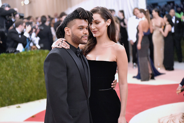 The Weeknd и Белла Хадид на Met Gala 2016