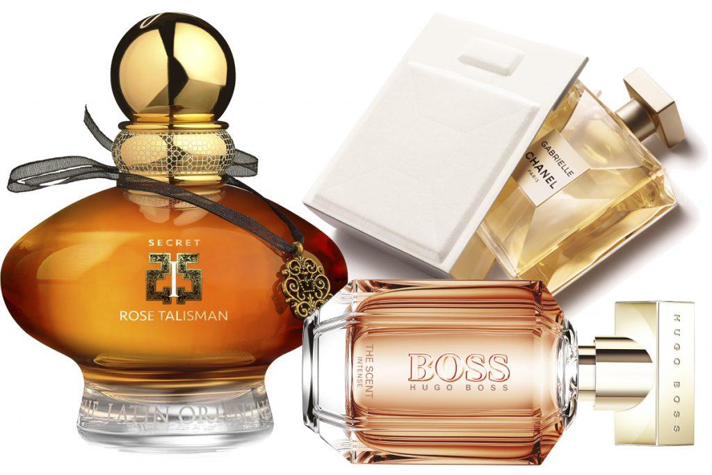 Аромат EISENBERG Secret, цена по запросу; парфюмерная вода Gabrielle Chanel, 10 100 р.; туалетная вода Boss The Scent, 2440 р