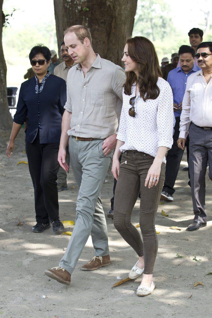Кейт Миддлтон в брюках Zara