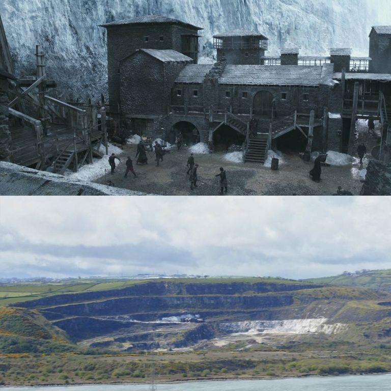 Черная крепость из сериала стоит около карьера Магераморн в Северной Ирландии