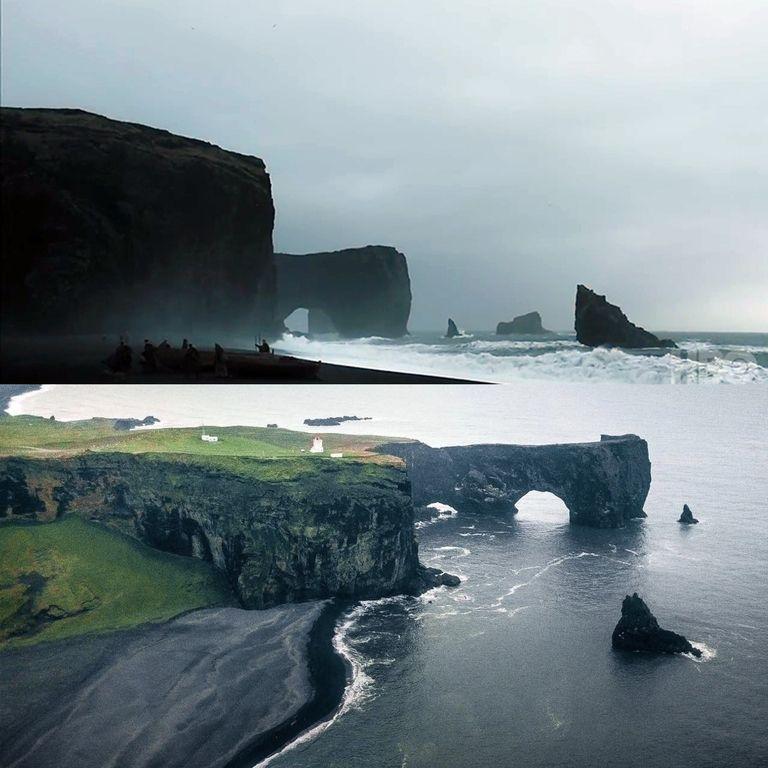 Гора восточного дозора находится в природном заповеднике Дирхолей в Исландии