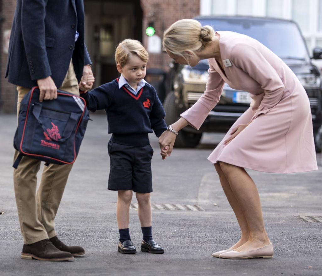 Первый день принца Джорджа в школе, 2017