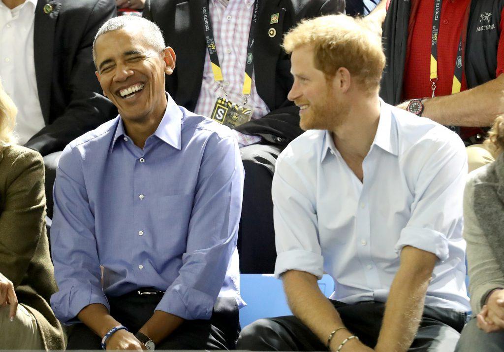 Барак Обама и принц Гарри на играх Invictus, сентябрь
