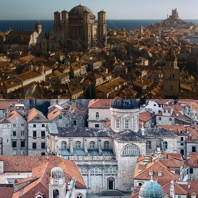 Королевская гавань, столица Вестероса - город Дубровник в Хорватии