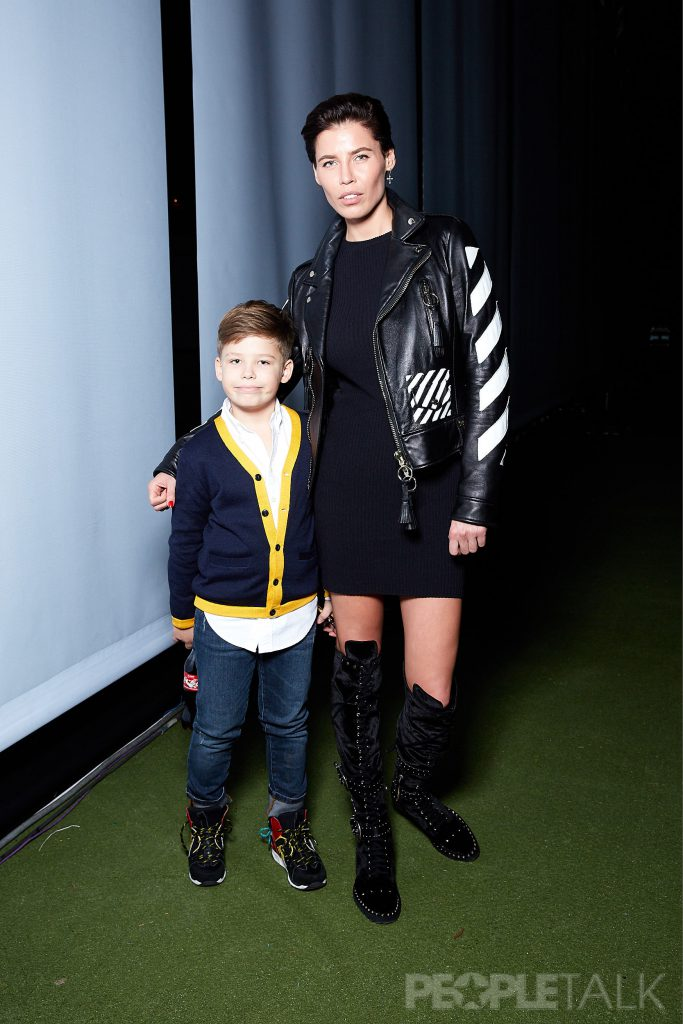 Ксения Лукаш с сыном