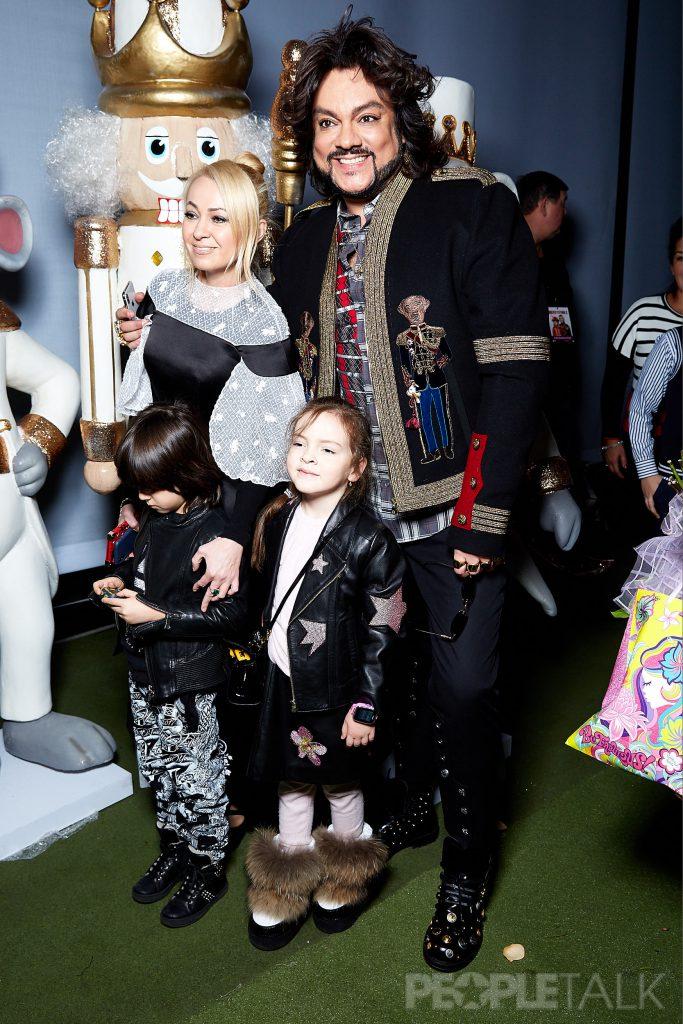 Яна Рудковская и Филипп Киркоров с детьми