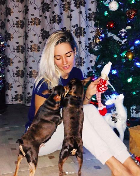 Юлия Паршута со своими питомцами