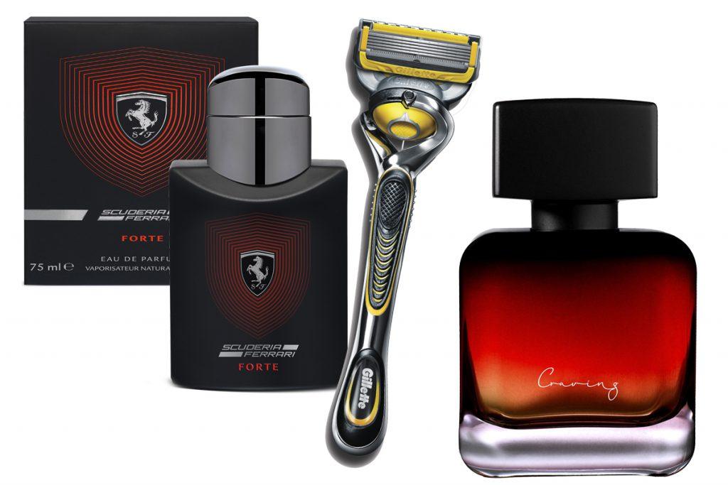 Парфюмерная вода, Scuderia Ferrari Forte Ferrari, 3990 р.; бритва Gillette, цена по запросу; аромат Phuong Dang, 18 000 р.