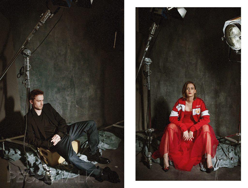 Саша Петров и Ира Старшенбаум (Платье, Dress By Yana; Худи, Adidas; Лодочки, Christian Louboutin)
