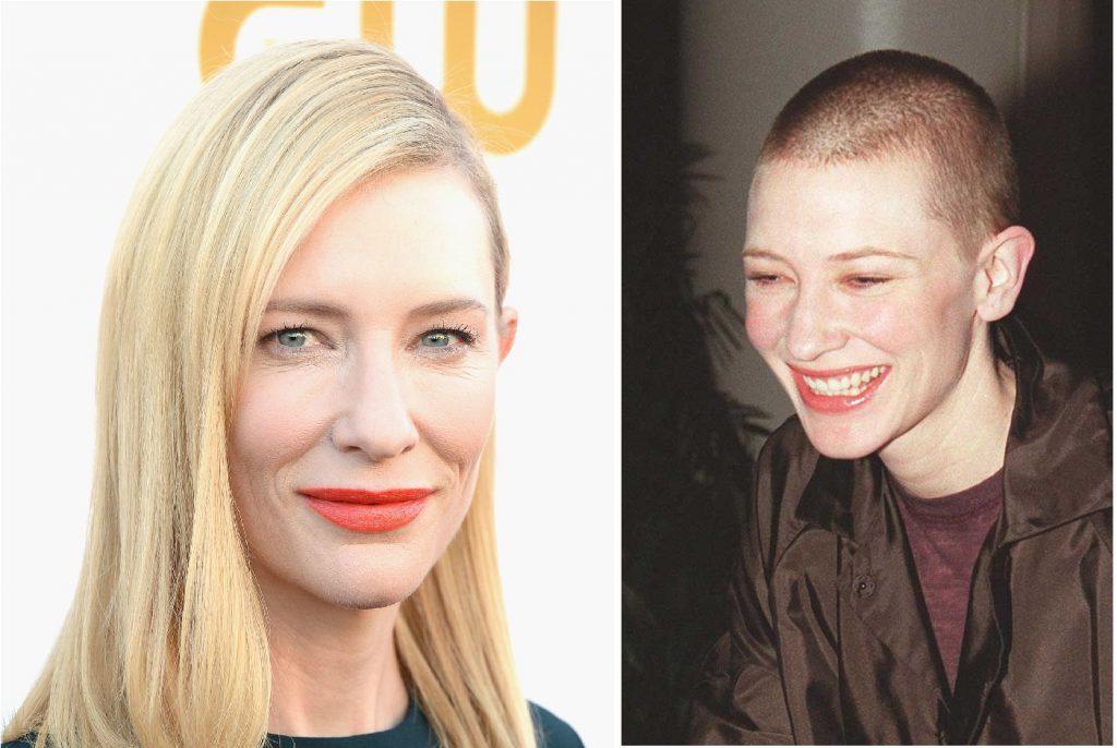 В 2002 году Кейт Бланшетт (48) пошла на бьюти-жертвы и сбрила волосы ради роли в фильме «Гавань».