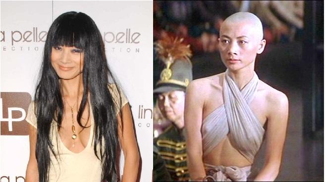 Со слезами на глазах актриса Бай Лин (51) прощалась со своими волосами ради фильма «Король и я» (1991).