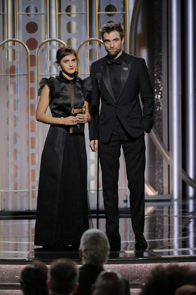 Эмма Стоун и Роберт Паттинсон на «Золотом глобусе - 2018»