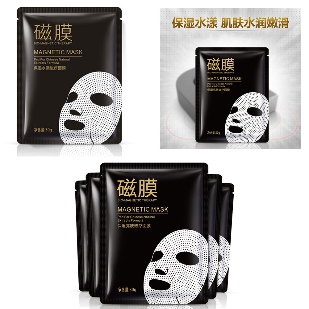 Тканевая акупунктурная магнитная маска для лица BIO-Magnetic Therapy помогает вернуть свежесть и молодость коже
