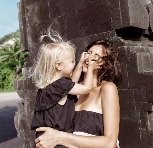Натали Неведрова с дочерью Мари-Николь