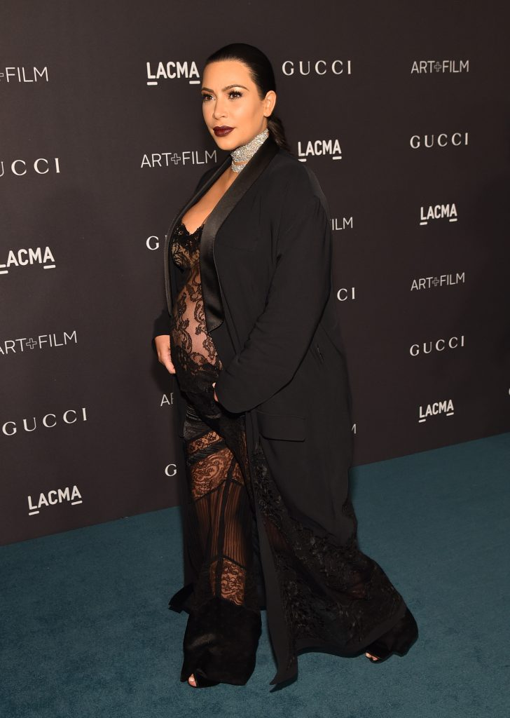Беременная Ким Кардашьян