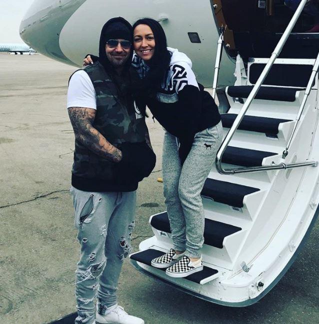 Джереми Бибер с женой