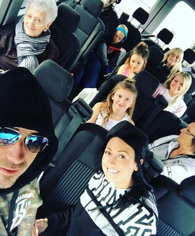 Джереми Бибер с родными