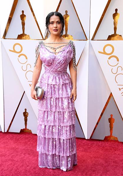 Сальма Хайек в платье Gucci