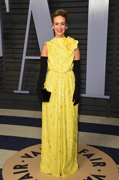 Сара Полсон в платье Louis Vuitton, 2018 год
