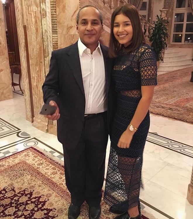 Зияд Манасир с дочерью Дианой от первого брака