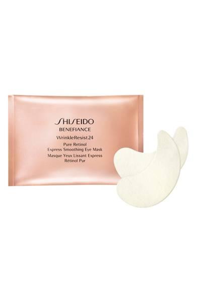 Патчи под глаза Shiseido Benefiance Wrinkle Resist 24 Pure Retinol Express Smoothing Eye Mask, 65 $ – идеально разглаживают кожу.