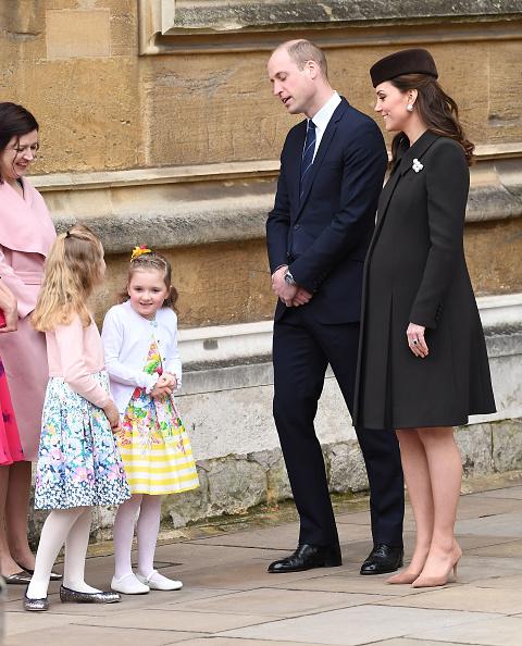 Принц Уильям и Кейт Миддлтон на пасхальной службе