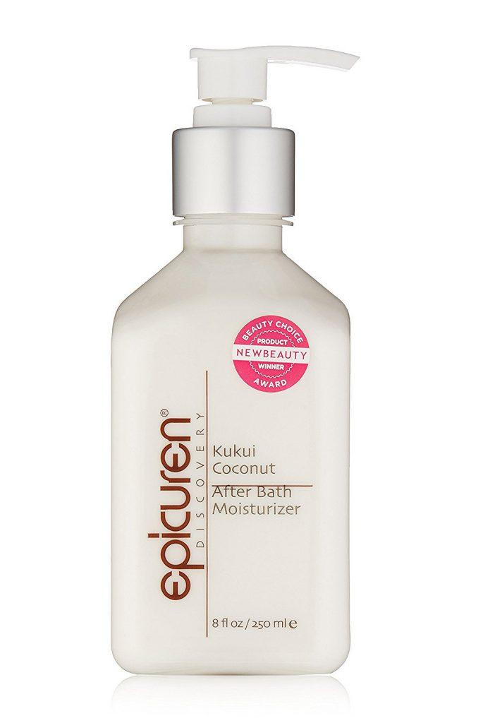 Молочко Epicuren Kukui Coconut After Bath Moisturizer, 40 $ – смягчает и успокаивает кожу.