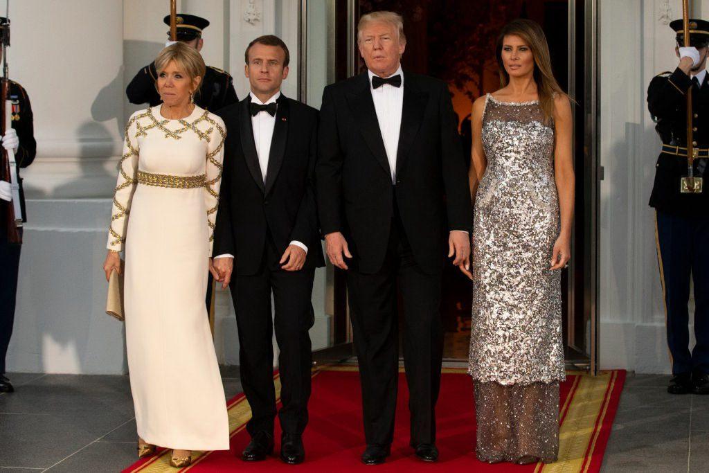 Брижит Макрон, Эммануэль Макрон, Дональд Трамп, Мелания Трамп