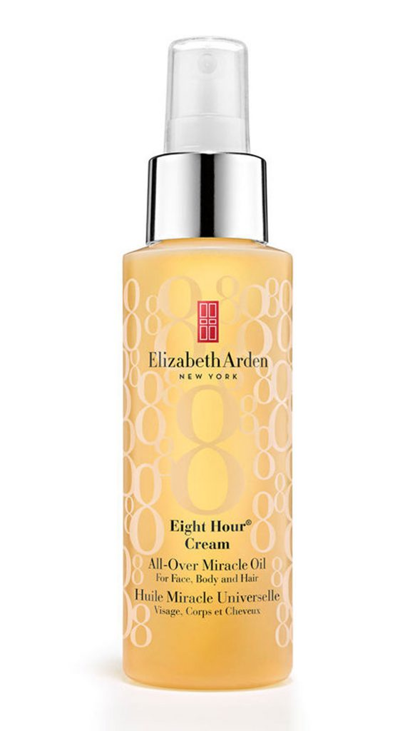 Масло для лица, волос и тела Elizabeth Arden Eight Hour Cream All-Over Miracle Oil, 28 $ – универсальный продукт, который удобно брать с собой в дорогу.