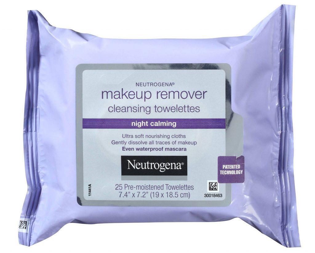 Очищающие салфетки Neutrogena Makeup Remover Cleansing Towelettes in Night Calming, 5,99 $ – отлично удаляют макияж.