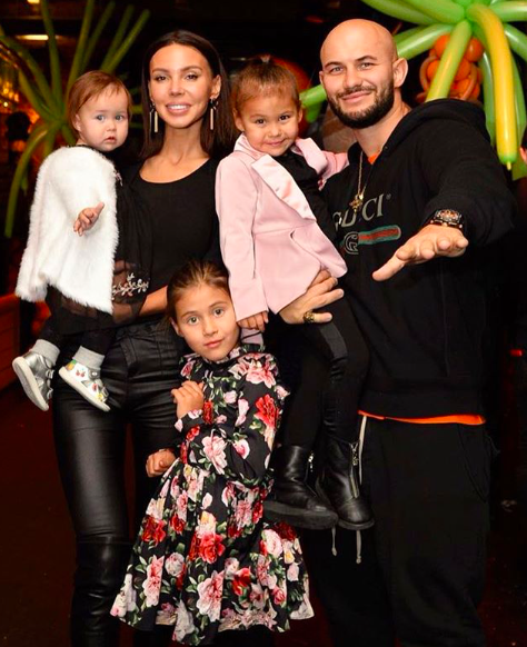 Оксана Самойлова и Джиган с детьми