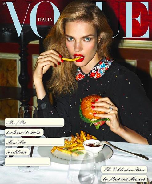 Наталья Водянова на обложке Vogue Italia
