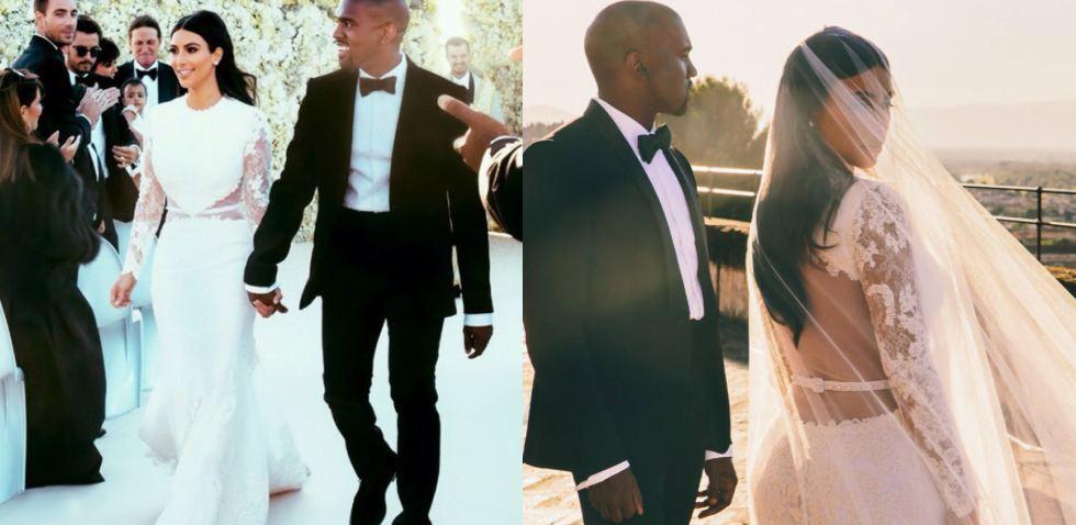 Для свадьбы с Канье Уэстом (40) в 2014 году Ким выбрала потрясающее платье Givenchy от дизайнера Риккардо Тиши, с голой спиной и невероятным шлейфом и такой же невероятной стоимостью - 500 000 долларов (около 30 млн. рублей)