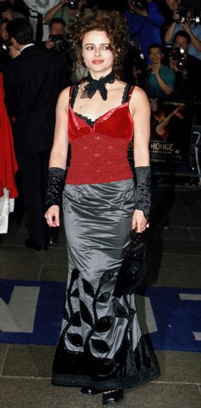 Хелена Бонэм Картер на премьере мюзикла «Мулен Руж» в Лондоне, 2001 год