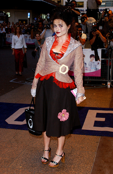 Хелена Бонэм Картер на премьере фильма «Как важно быть серьезным» в Лондоне, 2002 год