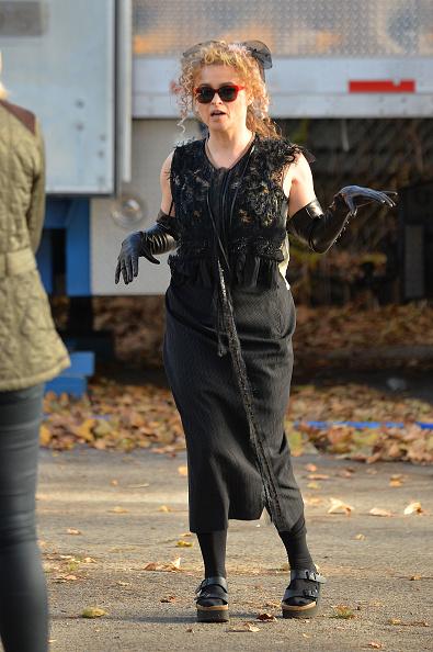 Хелена Бонэм Картер на съемках фильма «8 подруг Оушена» в Нью-Йорке, 2016 год
