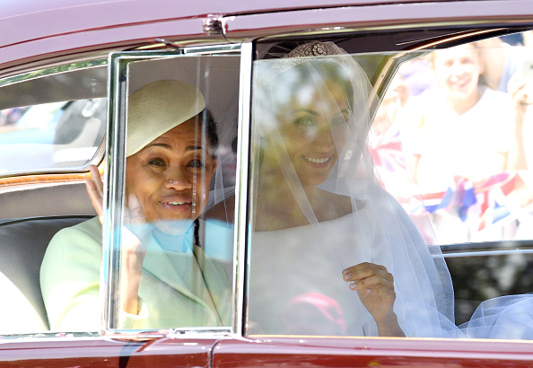 Меган Маркл с мамой перед церемонией