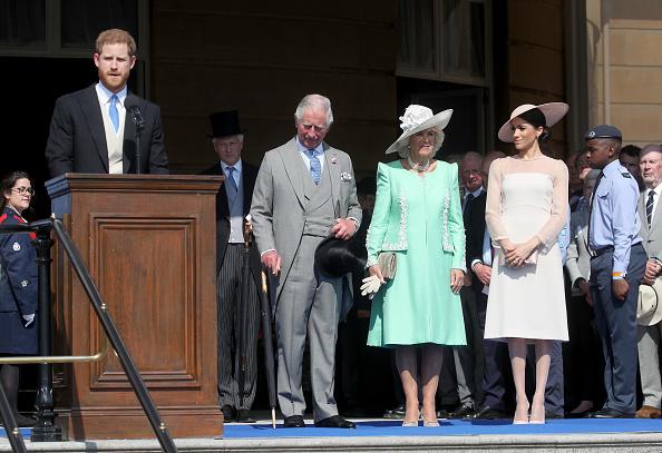 Принц Гарри, принц Чарльз, герцогиня Камилла и Меган Маркл