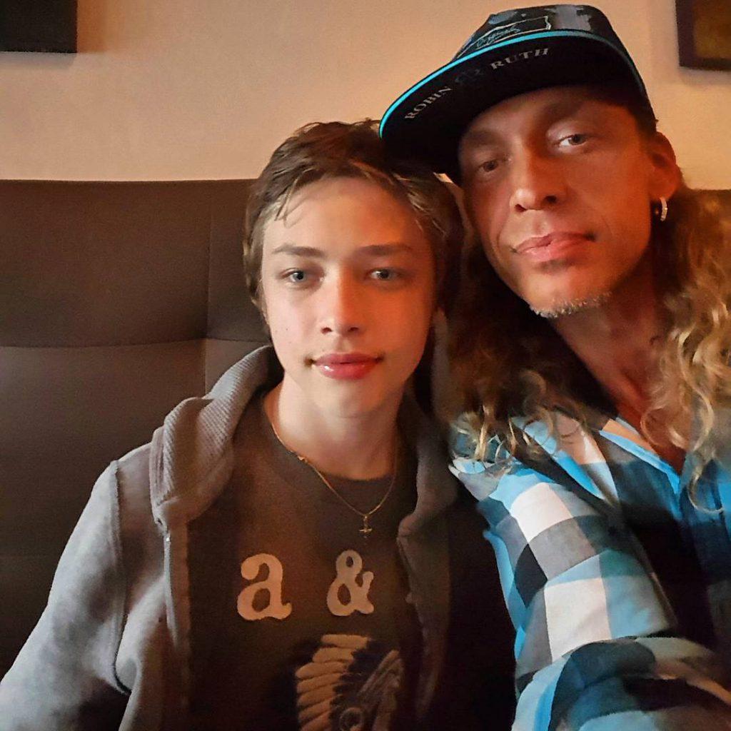 Сергей Глушко с сыном Архипом
