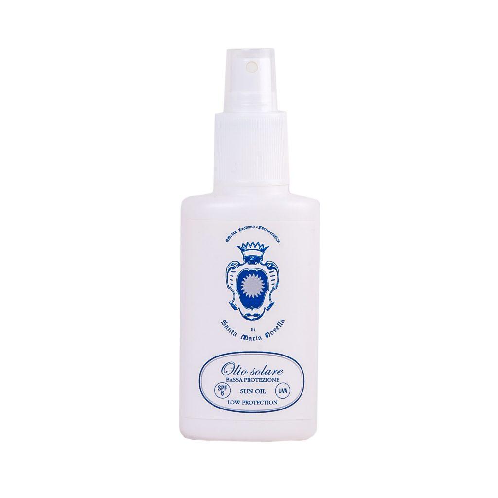 Солнцезащитное масло SPF 6 Santa Maria Novella для тела и волос увлажняет кожу, усиливаетзагар. 4000 р.