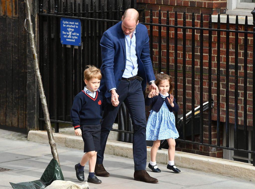 Принц Джордж, принц Уильям и принцесса Шарлотта
