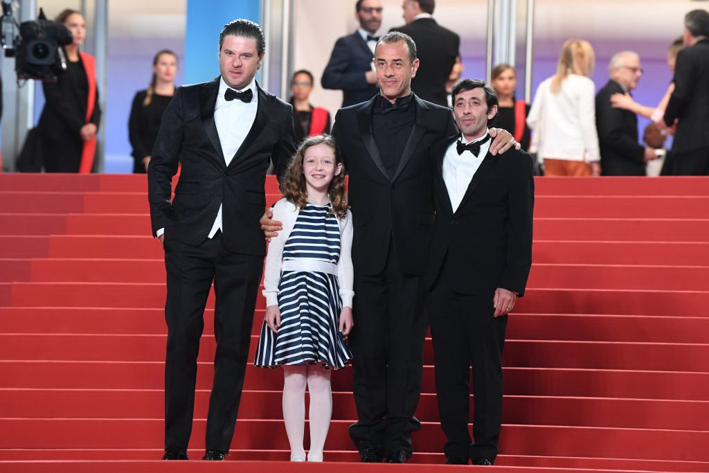 Эдоардо Песце, Алида Балдари Калабриа, Маттео Гарроне и Адамо Диониси на премьере фильма «Собачник»