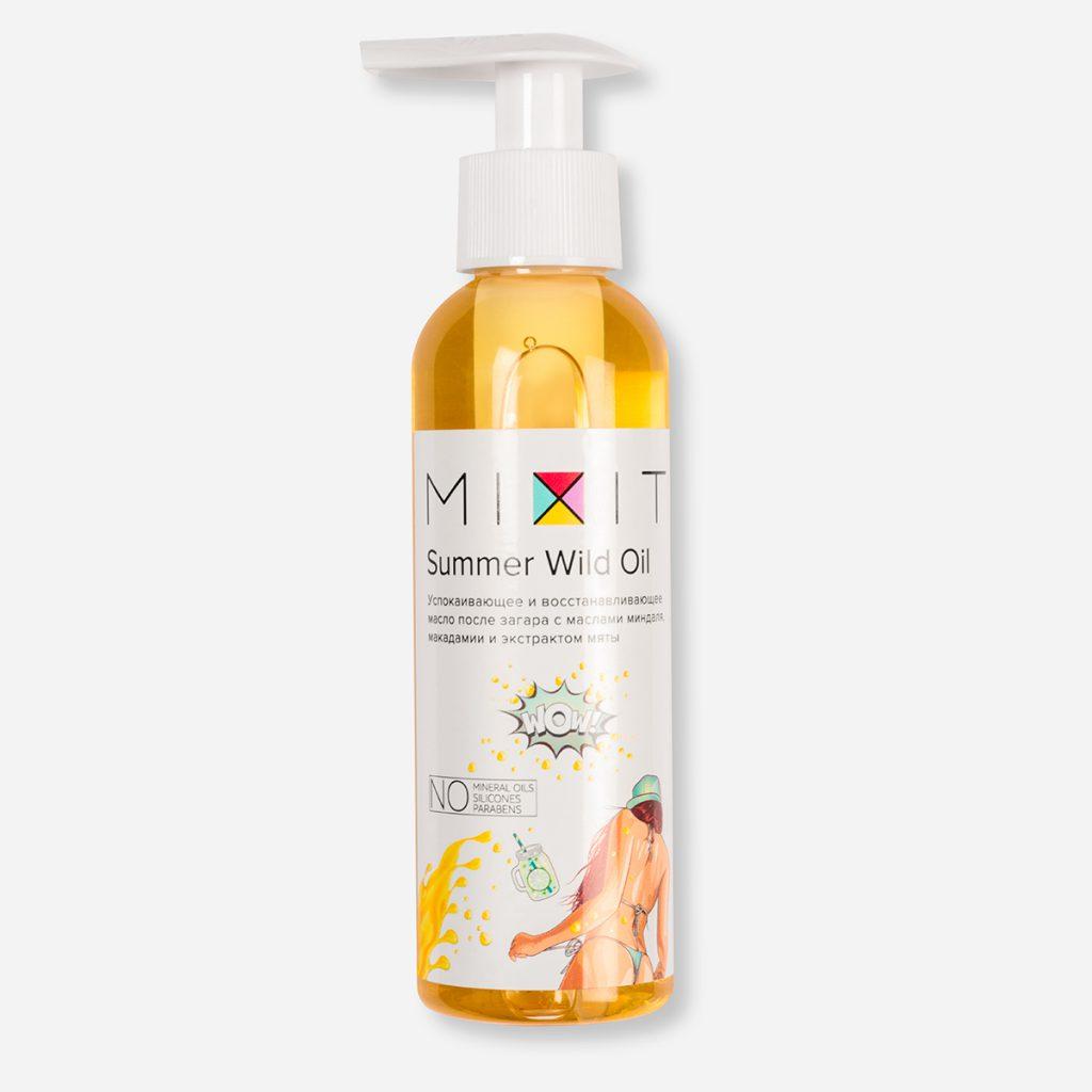 Успокаивающее масло после загара Summer Wild Oil Mixit - спасет кожу от неприятного ощущения стянутости и сухости. Цена по запросу