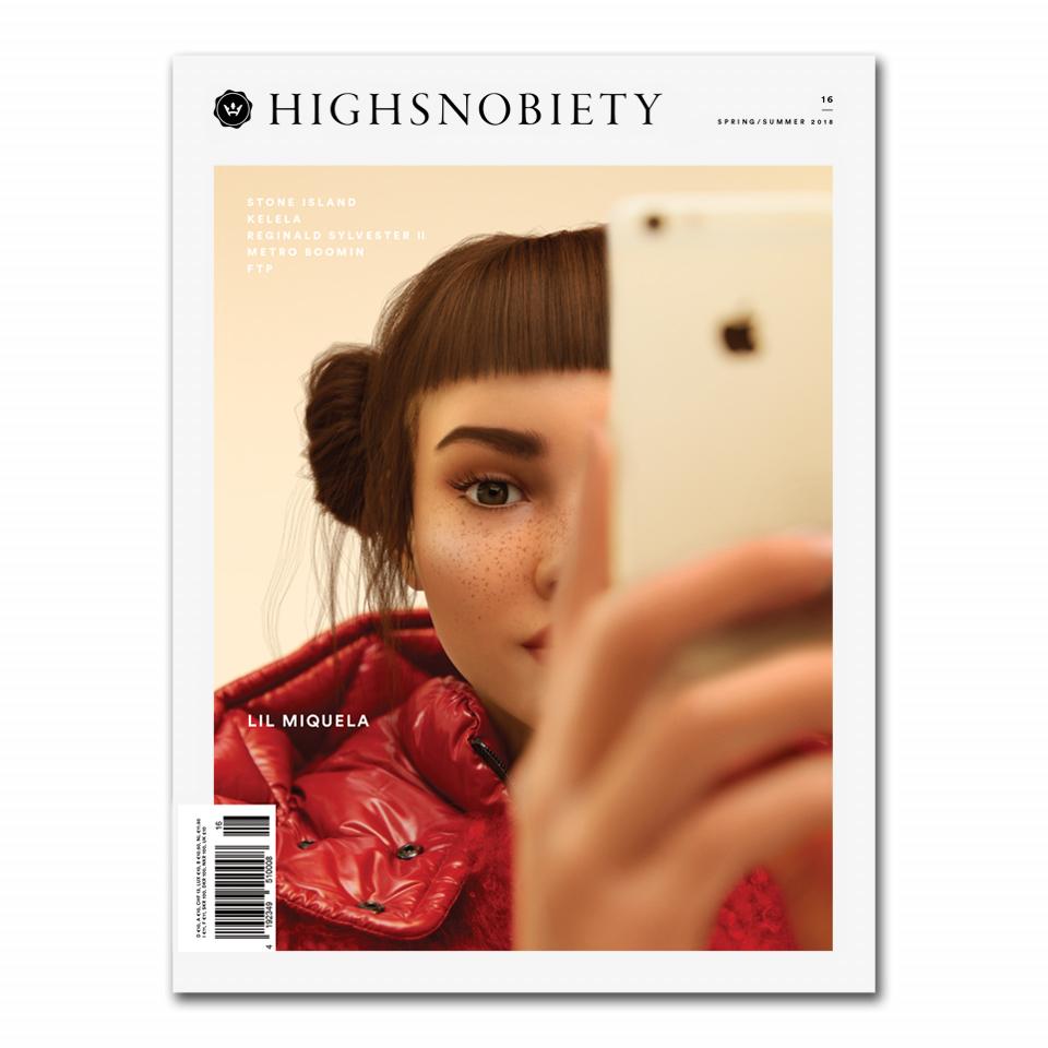 Лил Микела на обложке Highsnobiety