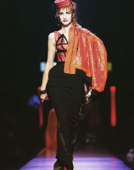 Маша Кашлева на показе Jean-Paul Gaultier