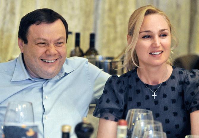 Михаил Фридман со второй женой Оксаной Ожельской